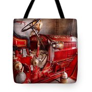 Fireman - Truck - Waiting For A Call Tote Bag