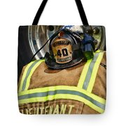 Fireman Turnout Gear Lieutenant Tote Bag