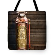 Fireman - Vintage Fire Extinguisher Tote Bag