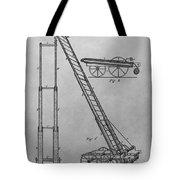 Fireman's Hydraulic Lift Patent Drawing Tote Bag