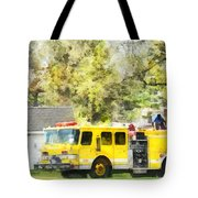 Firemen - Back At The Firehouse Tote Bag