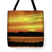 Fireside Chat Tote Bag