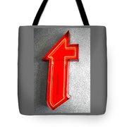 Firestone Building Red Neon T Tote Bag