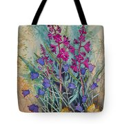 Fireweed And Bluebells Tote Bag