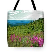 Fireweed Near Top Of The World Highway-alaska Tote Bag