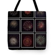 Fireworks - Black Background Tote Bag