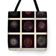 Fireworks - White Background Tote Bag
