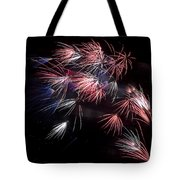 Fireworks 9 Tote Bag by Sandy Swanson