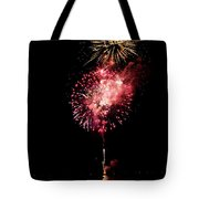 Fireworks Are Shot Off Over Lake Tahoe Tote Bag