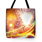 Fireworks As A Painting Tote Bag