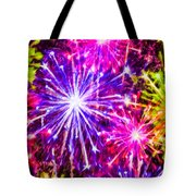 Fireworks At Night 7 Tote Bag