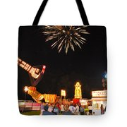 Fireworks At The Carnival Tote Bag
