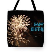 Fireworks Birthday Tote Bag