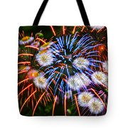 Fireworks Flower Abstract Tote Bag