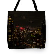 Fireworks From My Window 1 - Manhattan Tote Bag