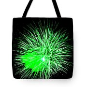 Fireworks In Green Tote Bag