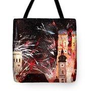 Fireworks In Munich Tote Bag