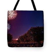 Fireworks In St. Charles Tote Bag by Cindy Tiefenbrunn