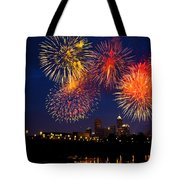 Fireworks In The City Tote Bag