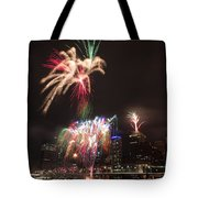 fireworks over Brisbane Tote Bag