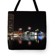 Fireworks Over Downtown Baltimore Tote Bag