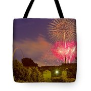 Fireworks Over St Louis Tote Bag
