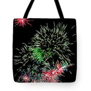 Fireworks Over The Bay Tote Bag