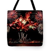 Fireworks Over The Delaware Tote Bag by Nick Zelinsky