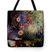 Fireworks Over The Museum Tote Bag