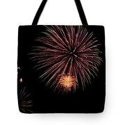 Fireworks Panorama Tote Bag