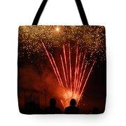 Fireworks Tote Bag by Vonnie Murfin