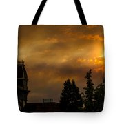 Firey Sunset Over Grants Pass Tote Bag
