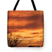 Firey Sunset Tote Bag