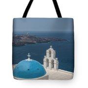 Firostefani Church On Santorini Tote Bag