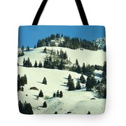 Firs Decoration Winterscape Tote Bag