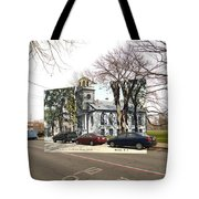 First Baptist Church And Walley School In Bristol Ri Tote Bag