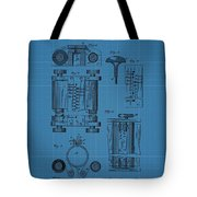 First Computer Blueprint Patent Tote Bag
