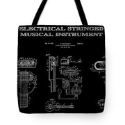 First Electric Guitar 2 Patent Art  1937 Tote Bag