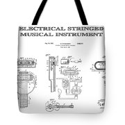 First Electric Guitar Patent Art  1937 Tote Bag
