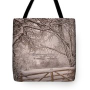 First Fall Of Snow Tote Bag