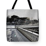 First Footsteps In The Snow Tote Bag