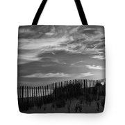 First Light At Cape Cod Beach Bw Tote Bag