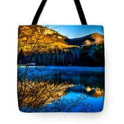 First Light At Pinnacle Lake Tote Bag