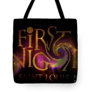 First Night St. Louis In Space Tote Bag