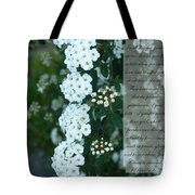 First Peter One Six To Seven White Floral  Tote Bag
