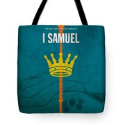First Samuel Books Of The Bible Series Old Testament Minimal Poster Art Number 9 Tote Bag by Design Turnpike