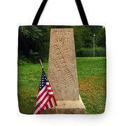 First Shot Monument Gettysburg Tote Bag by James Brunker