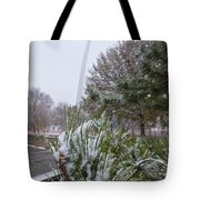 First Snow Of The Season Tote Bag