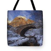 First Snow Pine Creek Tote Bag