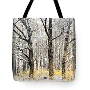 First Snow. Tree Brothers Tote Bag